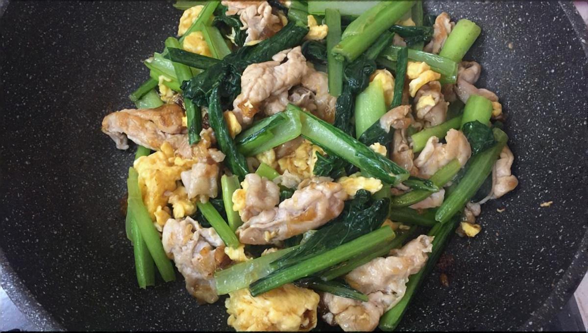 シャキッと小松菜の卵炒め