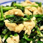 【3分クッキング】菜の花と鶏胸肉の卵炒めのレシピを石原洋子先生が紹介