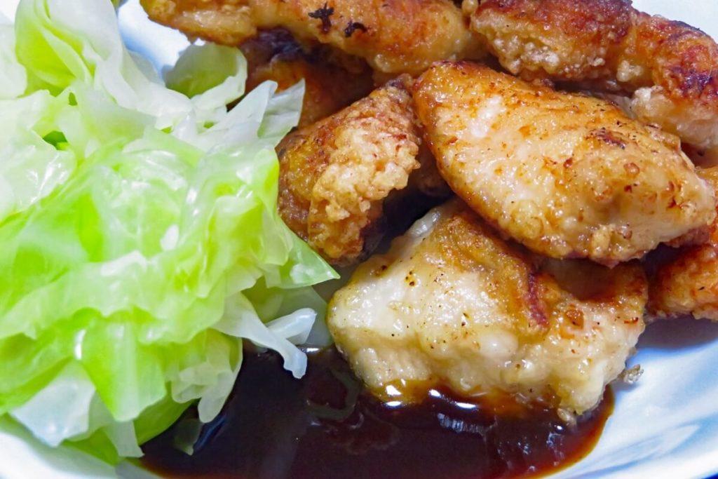 キャベツと鶏のごま酢