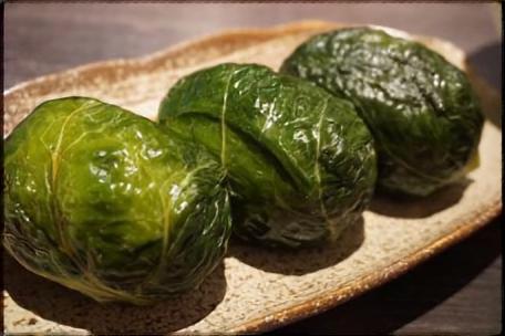 小松菜のめはり寿司