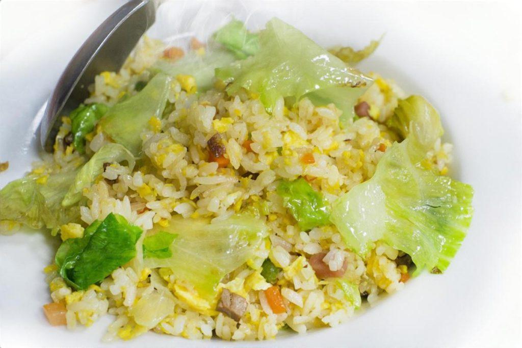 納豆レタススパム炒飯