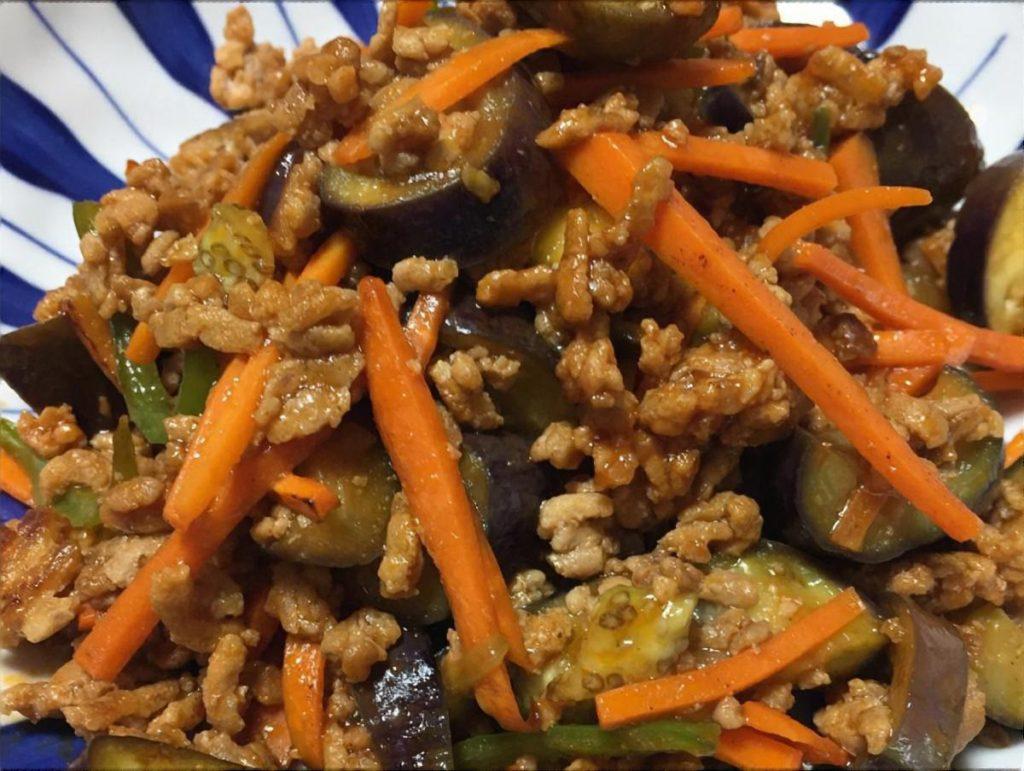 浅漬け野菜のパラパラ炒め