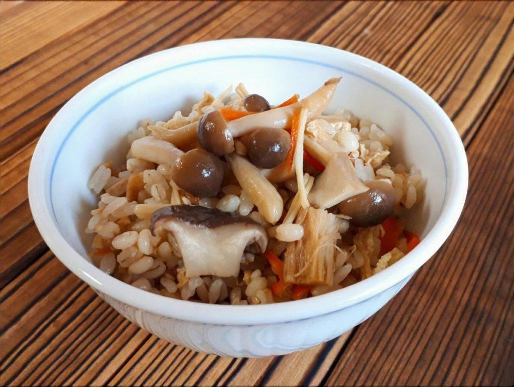 カンロ飴で作るモチモチ炊き込みご飯