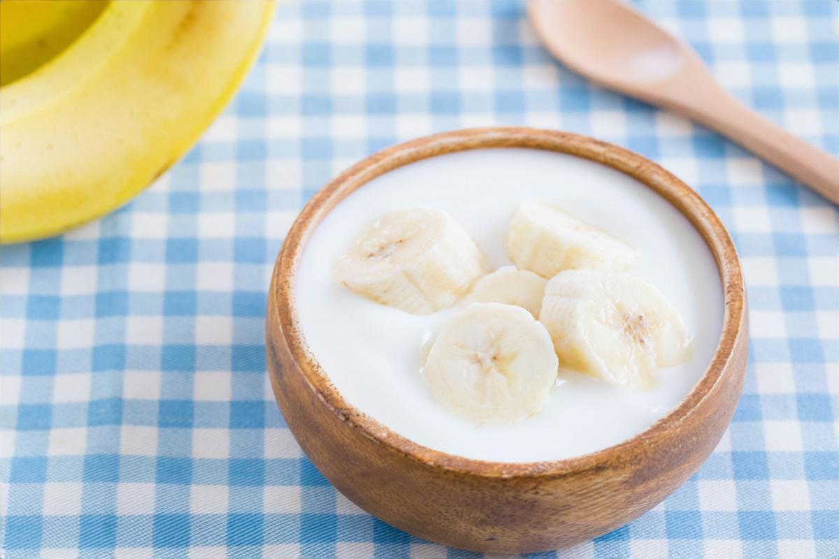 しそバナナヨーグルト