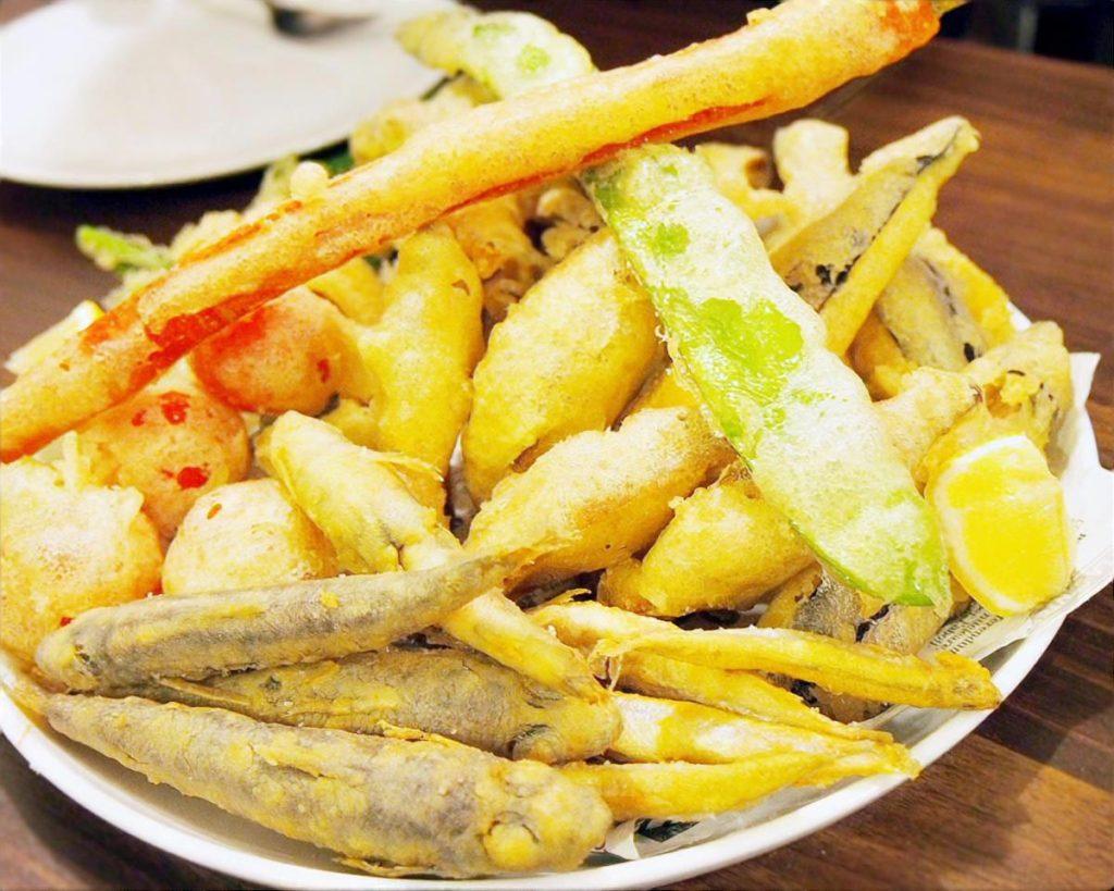 ズッキーニと白身魚のフリット