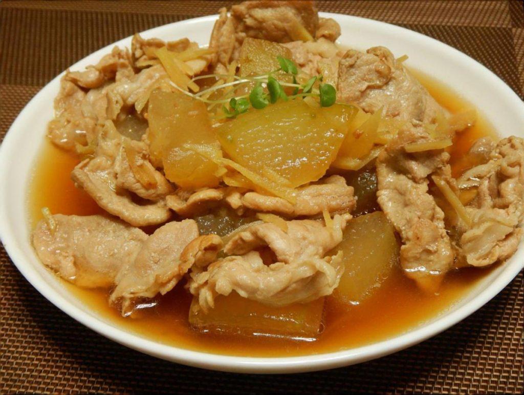 とうがんと豚肉の南蛮煮