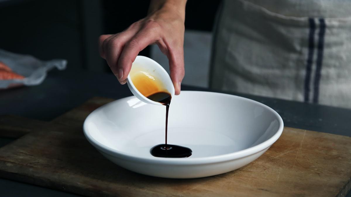 バルサミコ酢でオレンジドレッシング