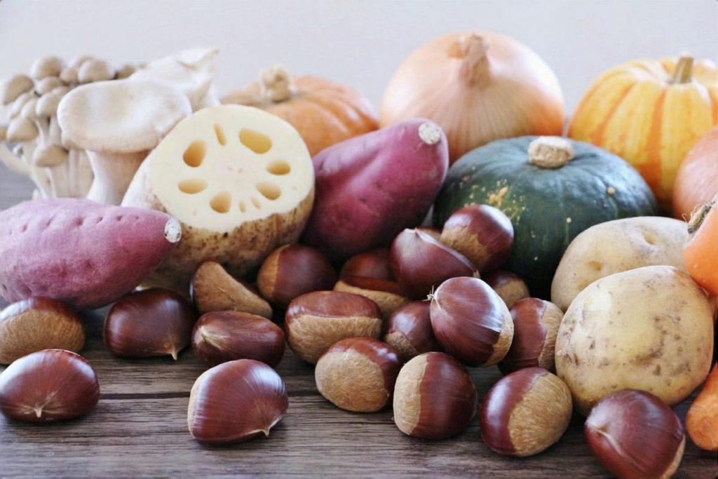 秋のヘルシー蒸し野菜