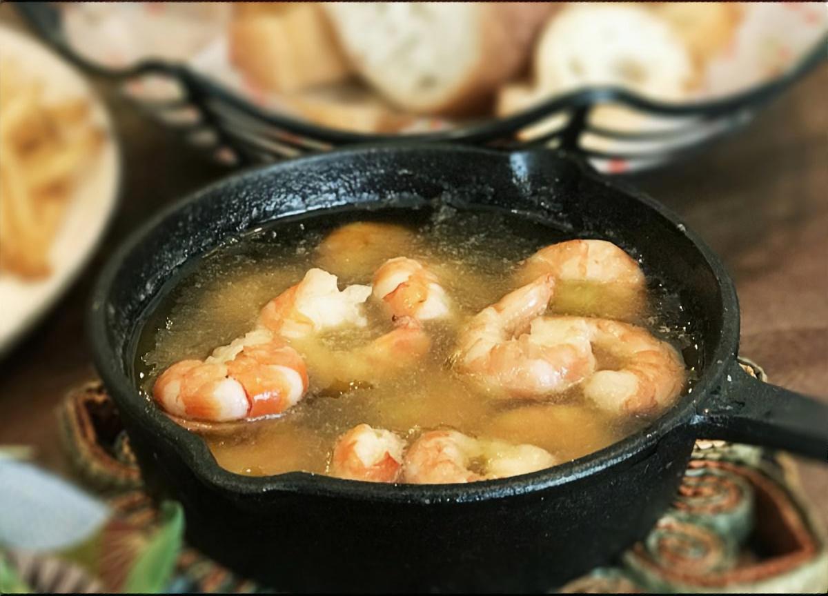 納豆の海鮮アヒージョ
