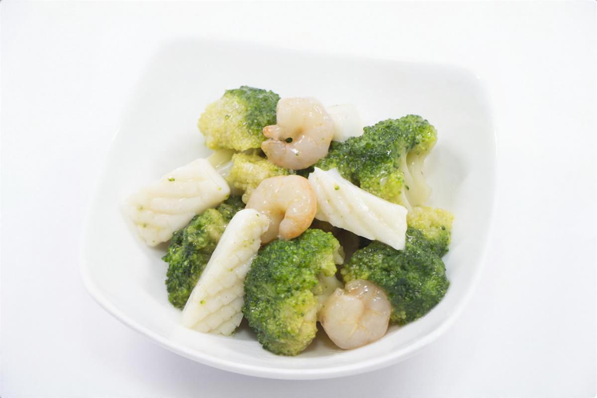 ブロッコリーと海老のうま煮