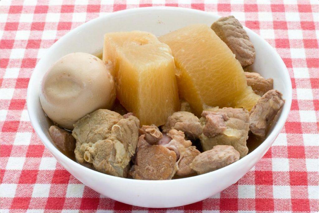 豚肉と大根のアンチョビー風味