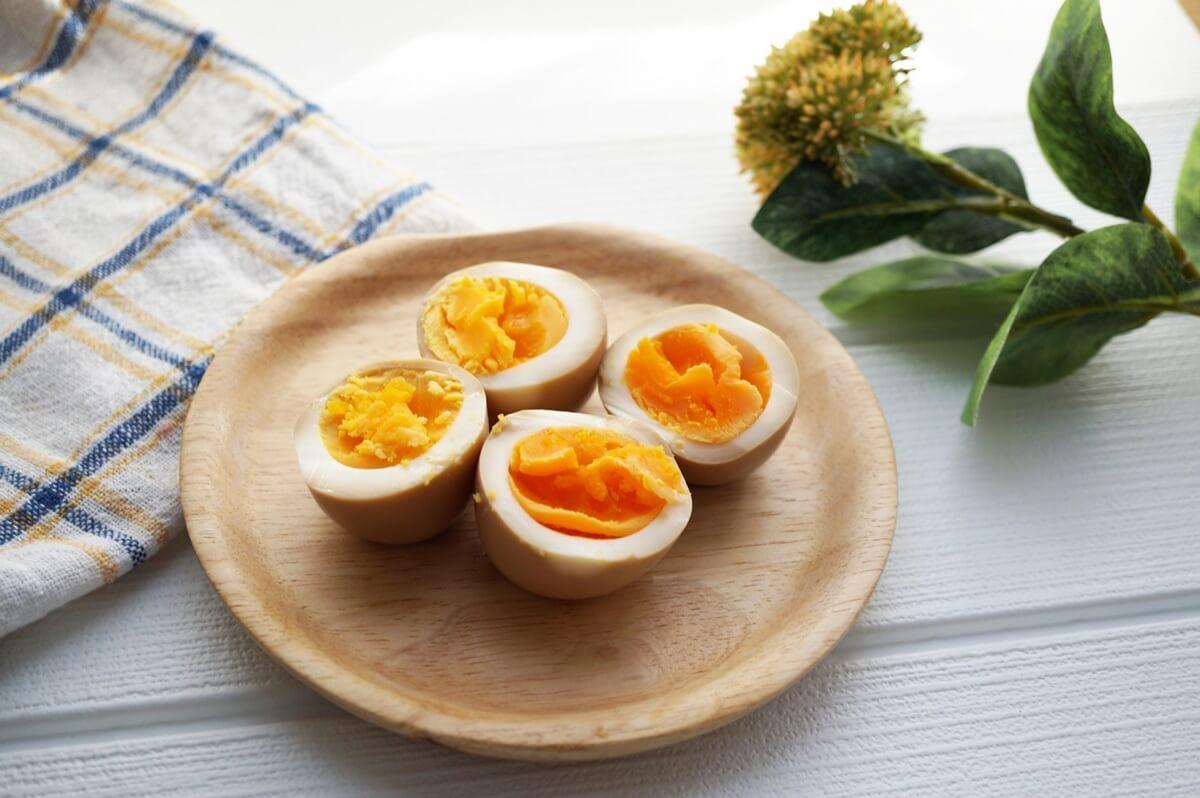 ゆで卵のしば漬けタルタル