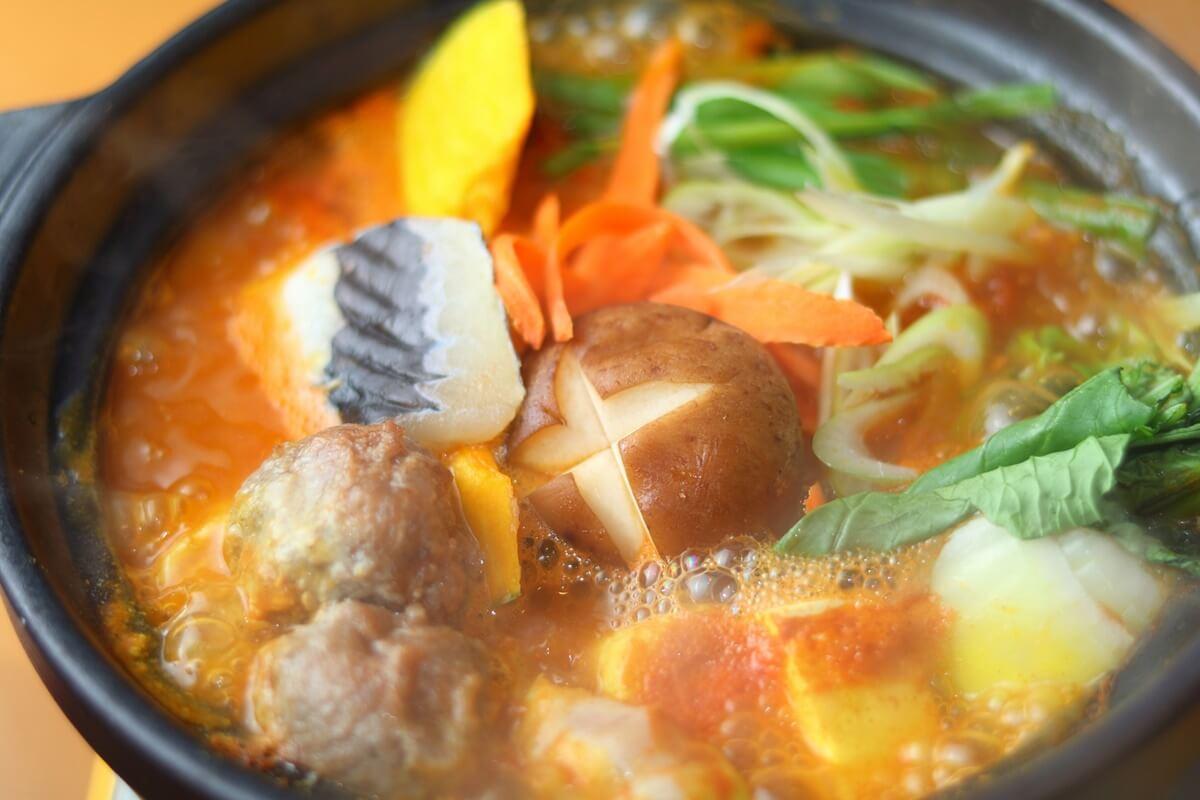 ウインナーのカレー鍋