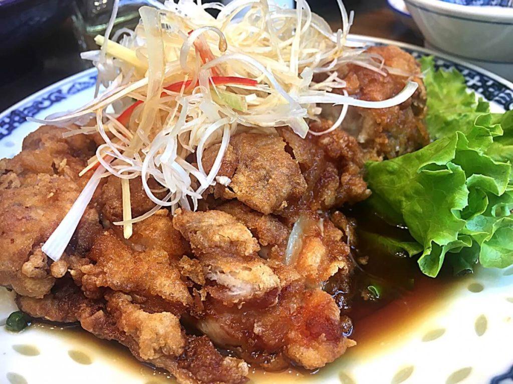 ぶりと根菜の油淋鶏風