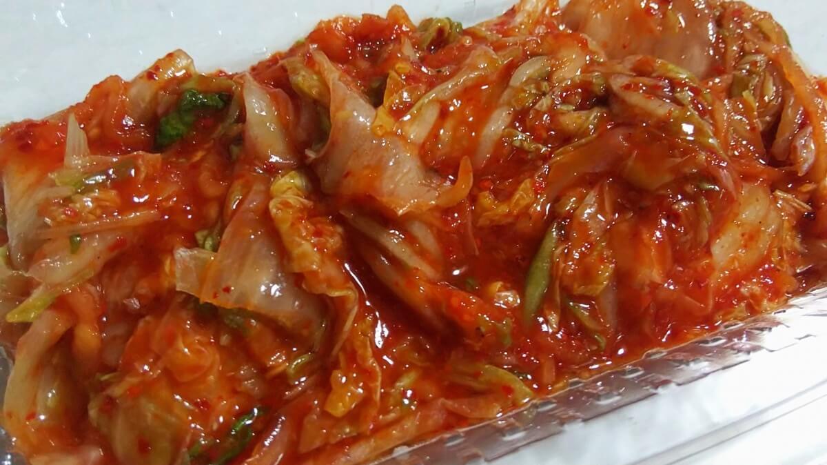 切り漬け白菜キムチ