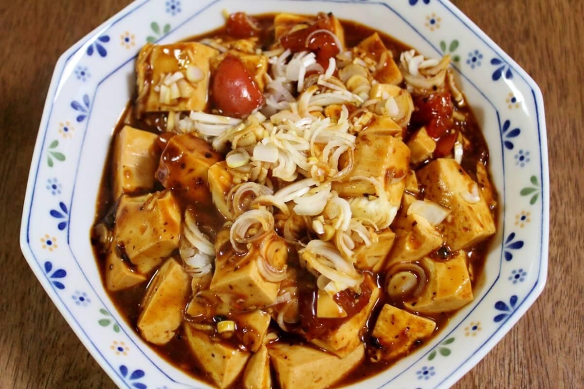 トマトと卵の麻婆豆腐