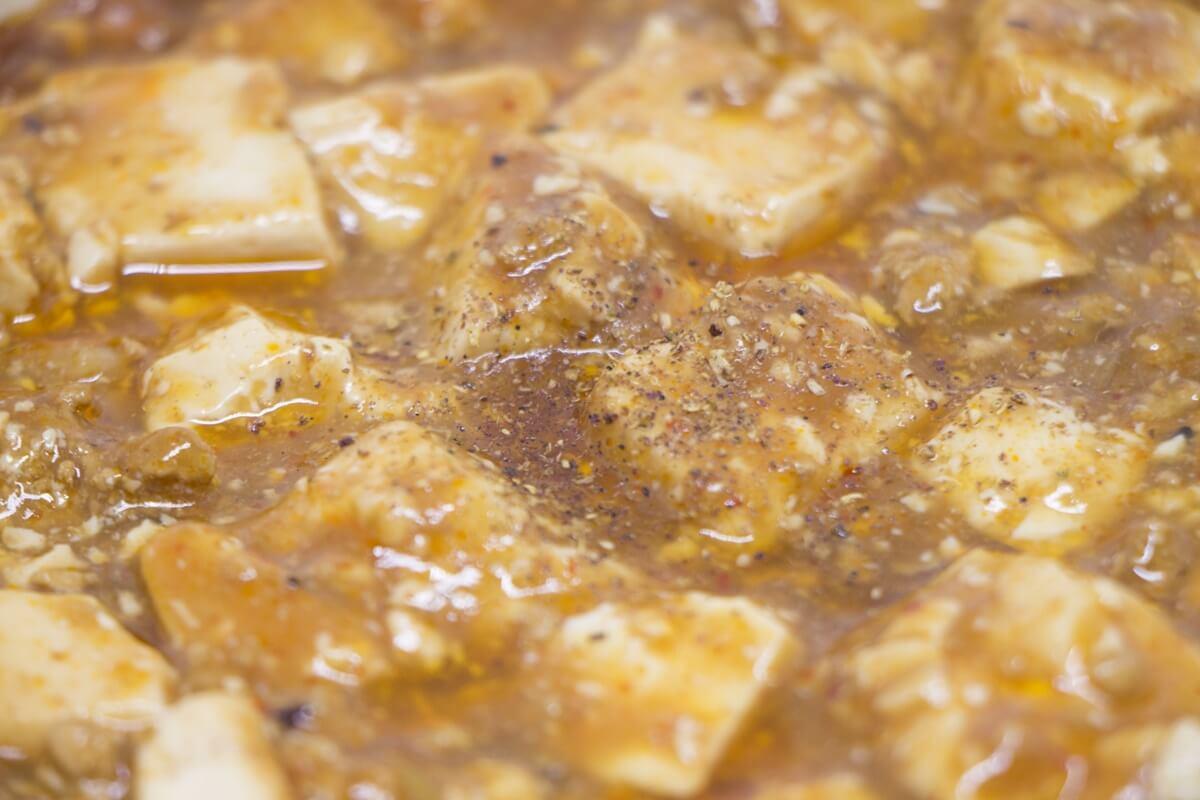 ピリ辛チキン麻婆豆腐