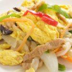 【ちちんぷいぷい】牛肉とふわふわ卵のオイスターソース炒めの作り方を紹介!あみんさんのレシピ