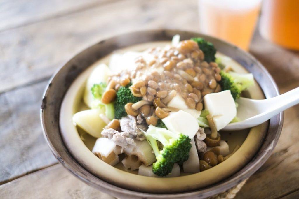 ピリ辛納豆鍋