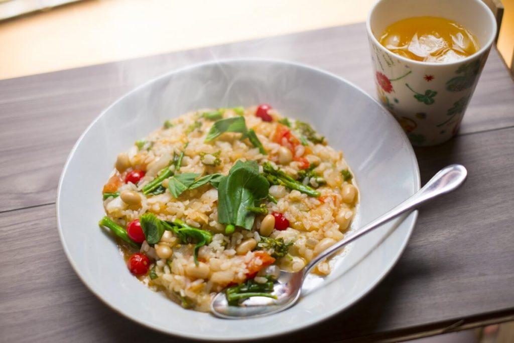 野菜たっぷり2種の玄米リゾット