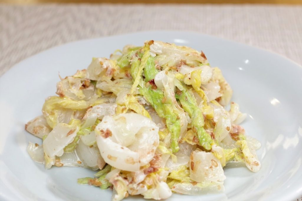 ツナと塩昆布の白菜サラダ