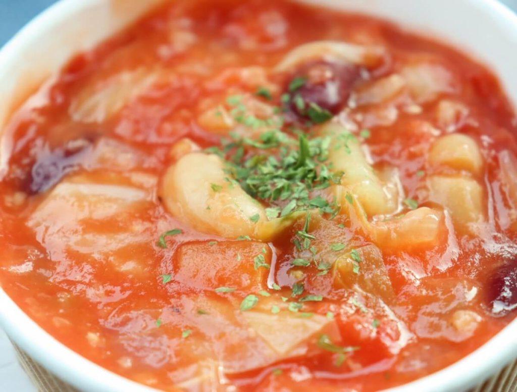 タラとトマトのビールスープ