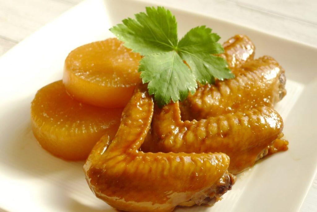 鶏手羽大根の煮物