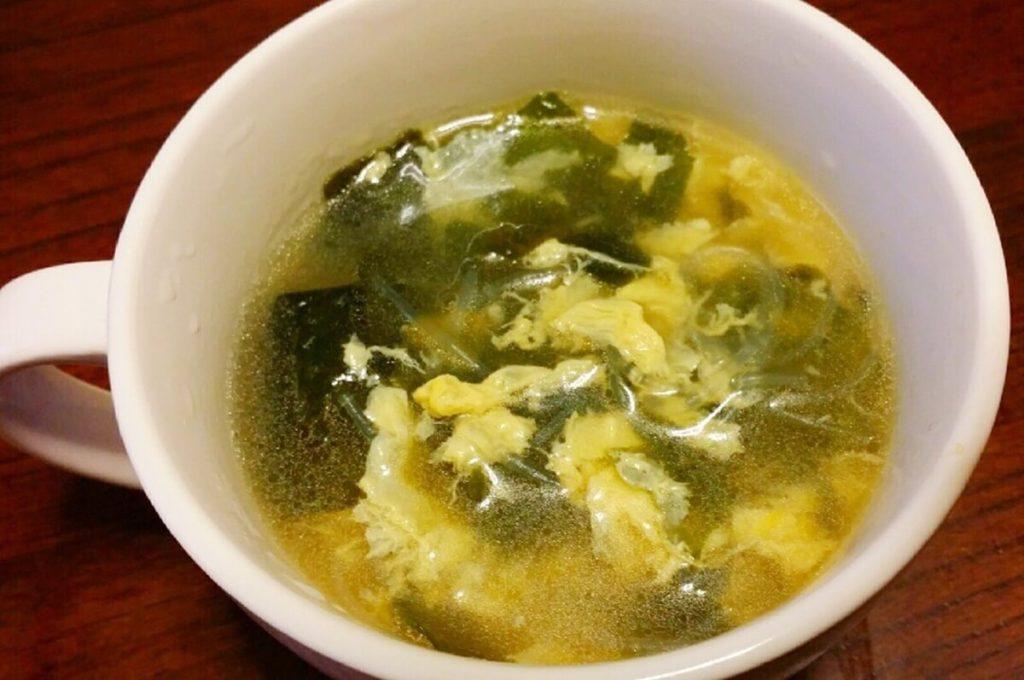 たらと卵のスープ