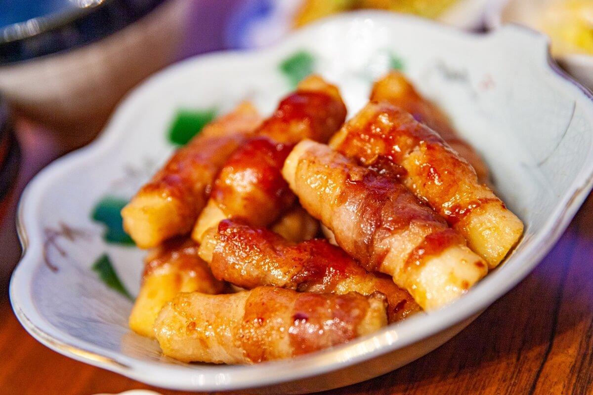大根の豚バラ巻きピリ辛煮