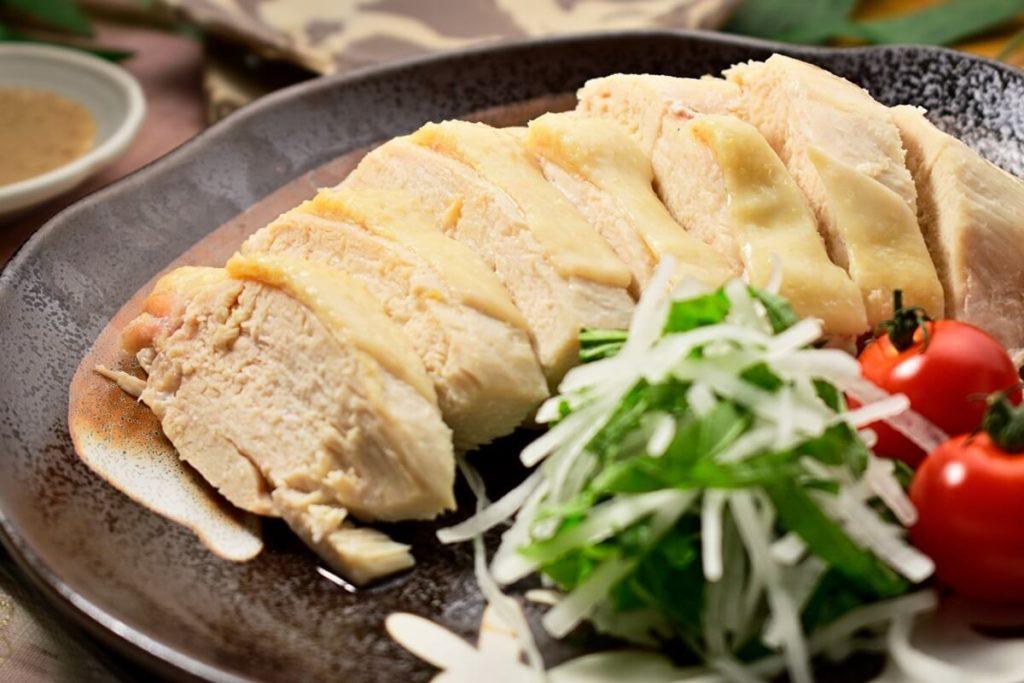 フライパン蒸し鶏