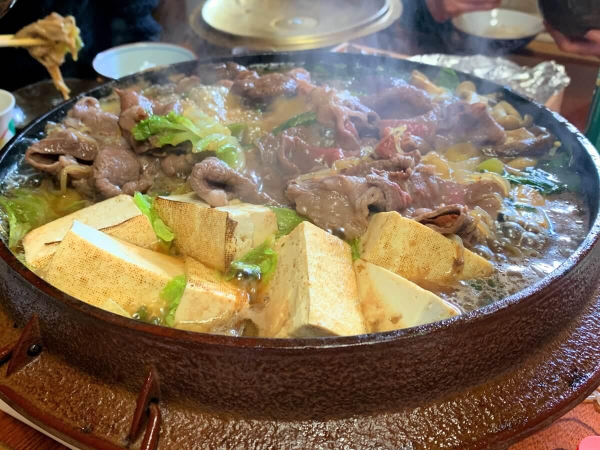 ネギと肉がとろける特別なすき焼き