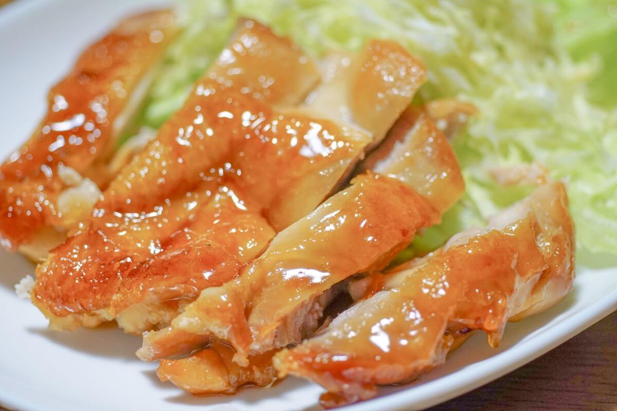 鶏肉のケチャップウスター焼き