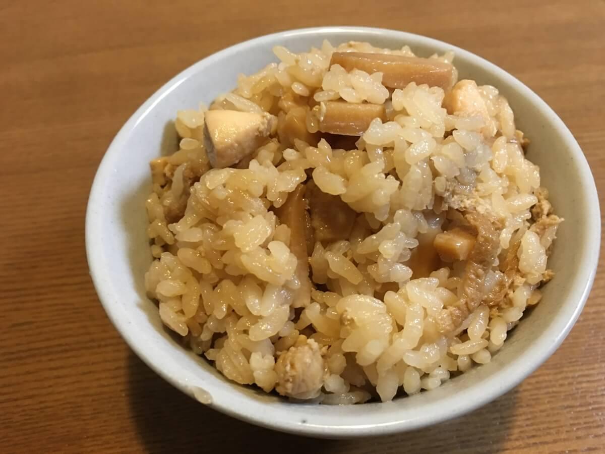 ファミチキと海苔の炊き込みご飯