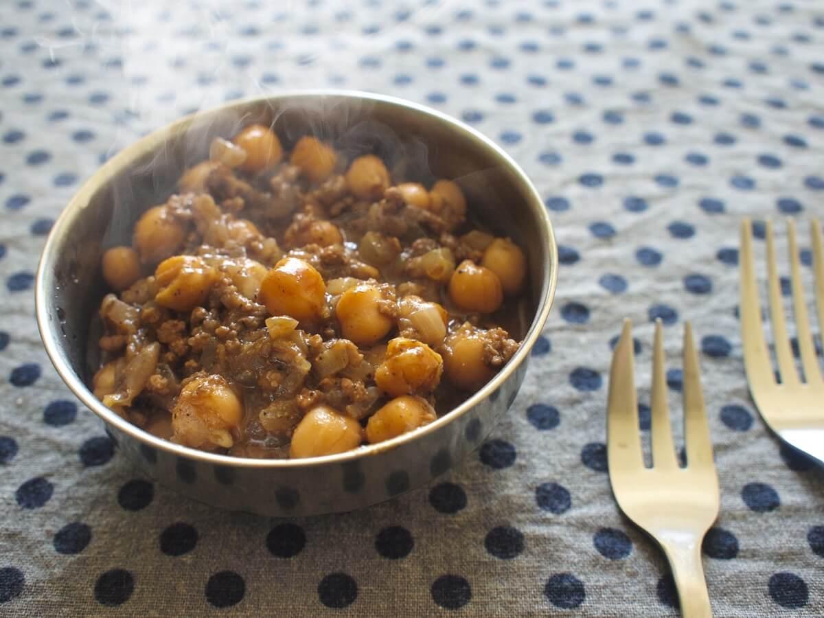豆とオクラのカレー