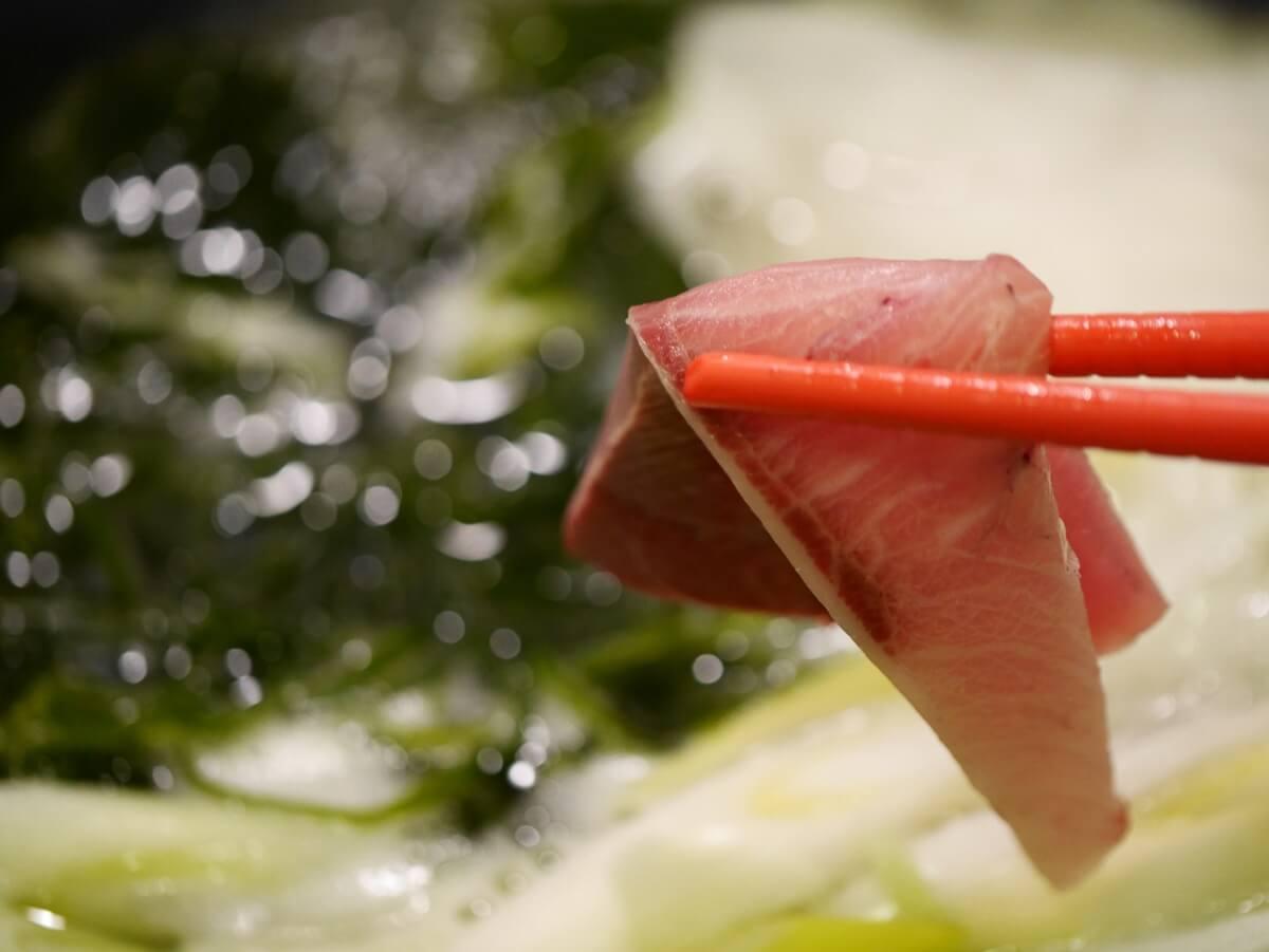 金目鯛とブリのしゃぶしゃぶ
