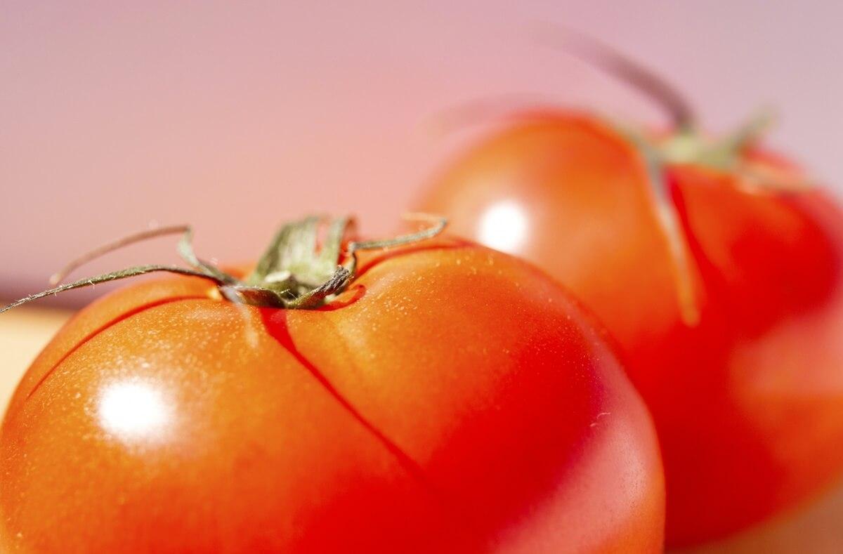 トマトの肉詰めあんかけ