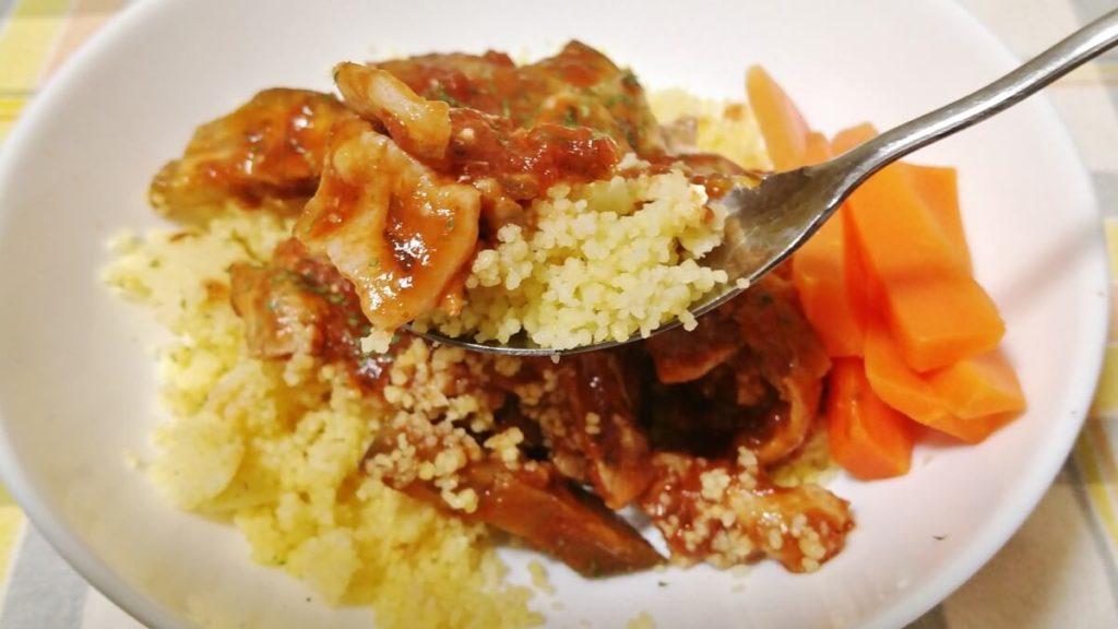 クスクスと夏野菜のトマト煮込み