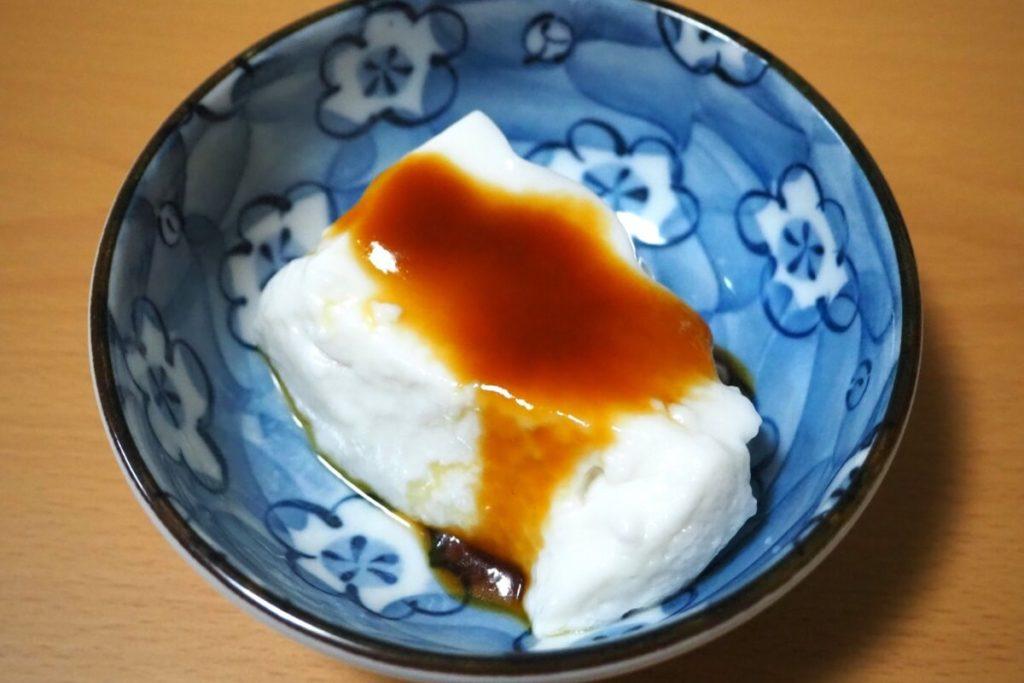 牛乳ざる豆腐