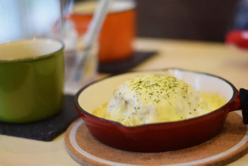 カップスープ豆腐グラタン