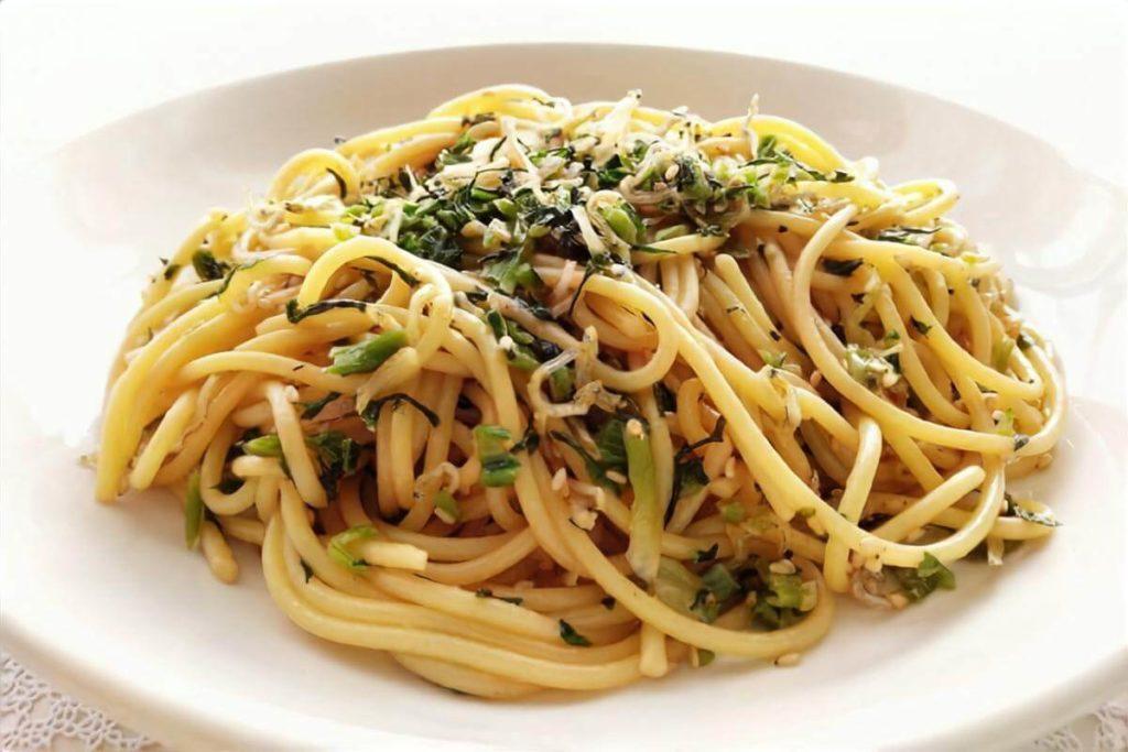 もずくと海苔のスパゲッティ