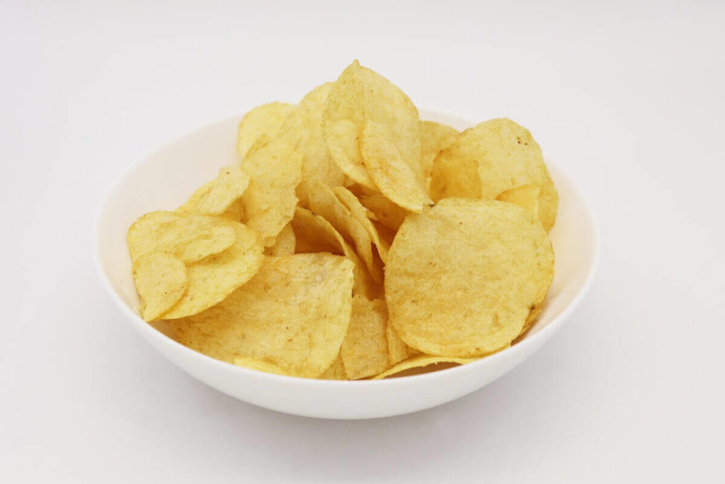 ポテトチップスのりしお味×白ご飯