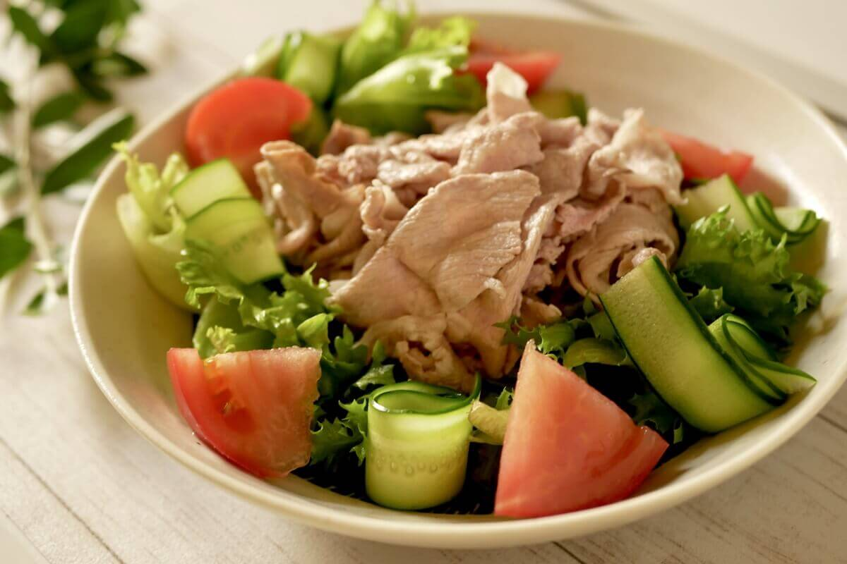 豚しゃぶとブロッコリーマヨサラダ