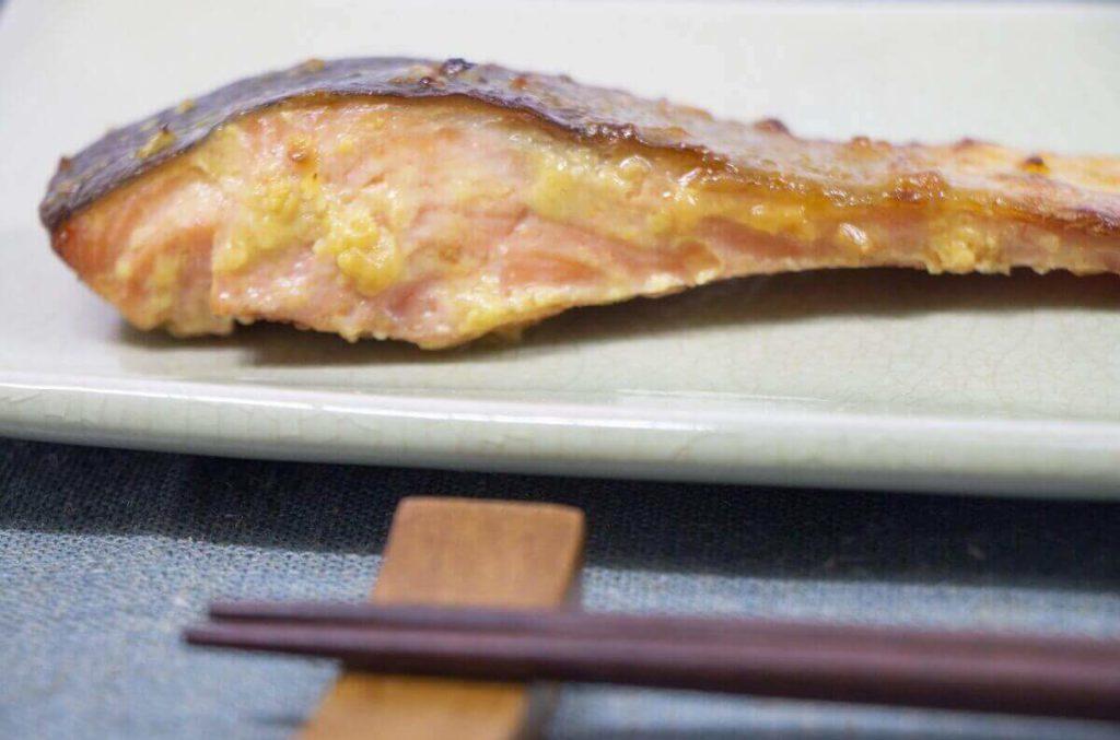 鮭の即席西京焼き