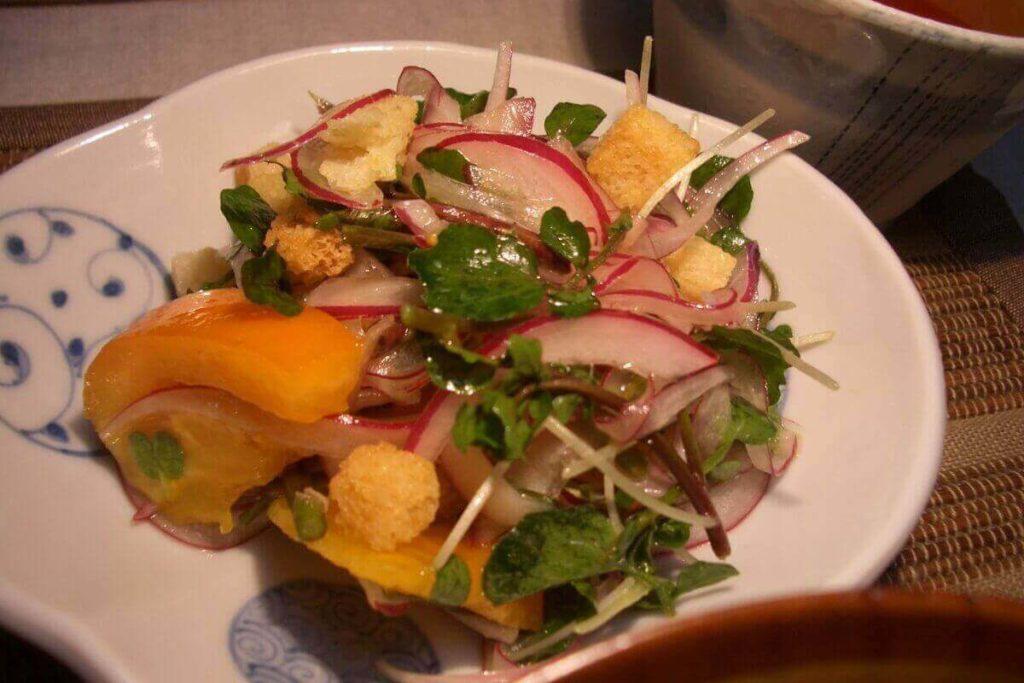 長芋とオクラの和風サラダ